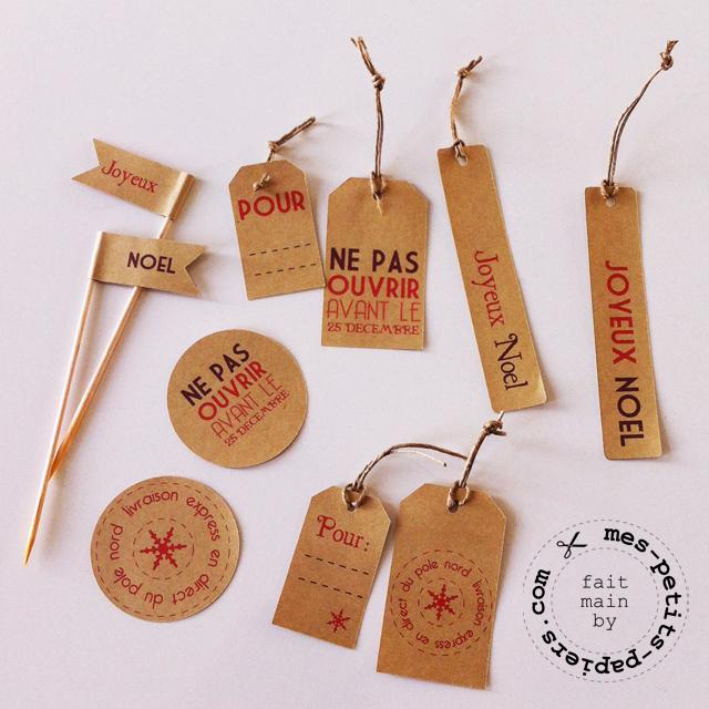 DIY: des étiquettes pour vos paquets