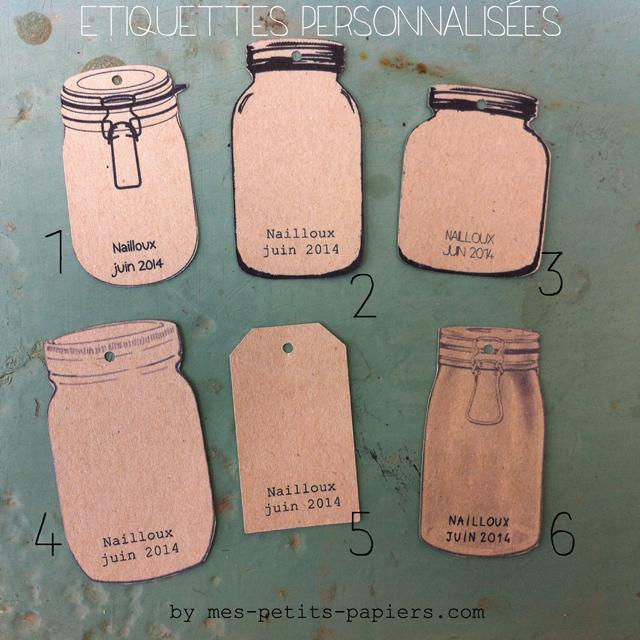 Etiquettes personnalisées pour les pots