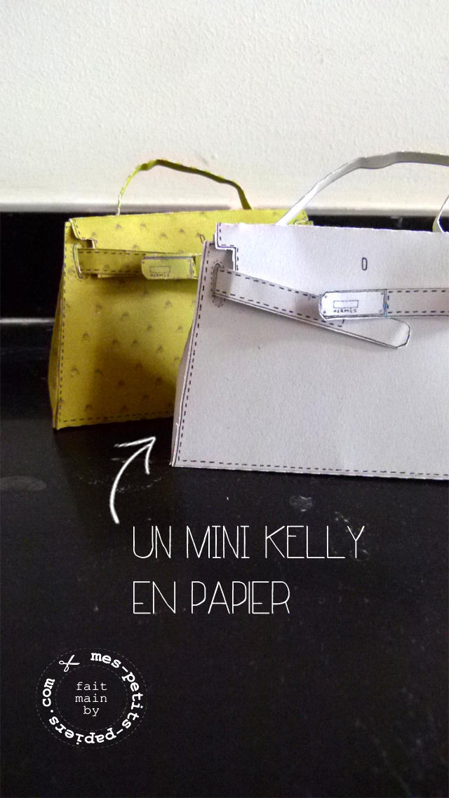 Hermès - un mini kelly en papier