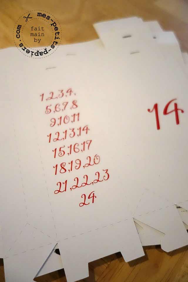 calendrier de l'avent