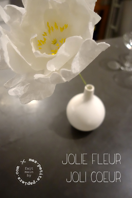 jolie fleur, joli coeur, fleur en papier mes petits papiers