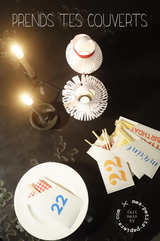 table d'anniversaire sur mesure, mes petits papiers