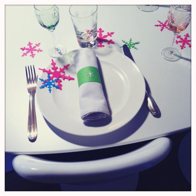 table de fête chic pop
