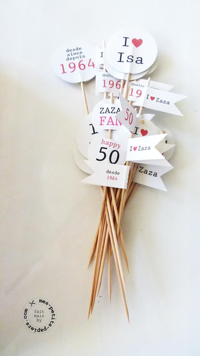 I Love zaza - bouquet de pics prêts à décorer