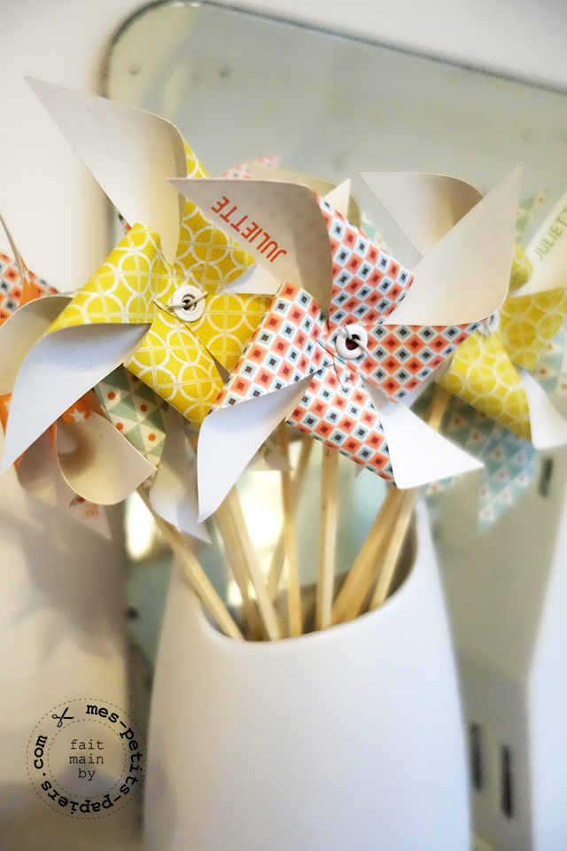 moulins en papier coordonnés par www.mes-petits-papiers.com