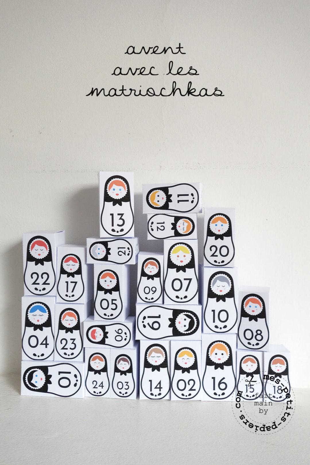calendrier de l'avent - matriochkas 1