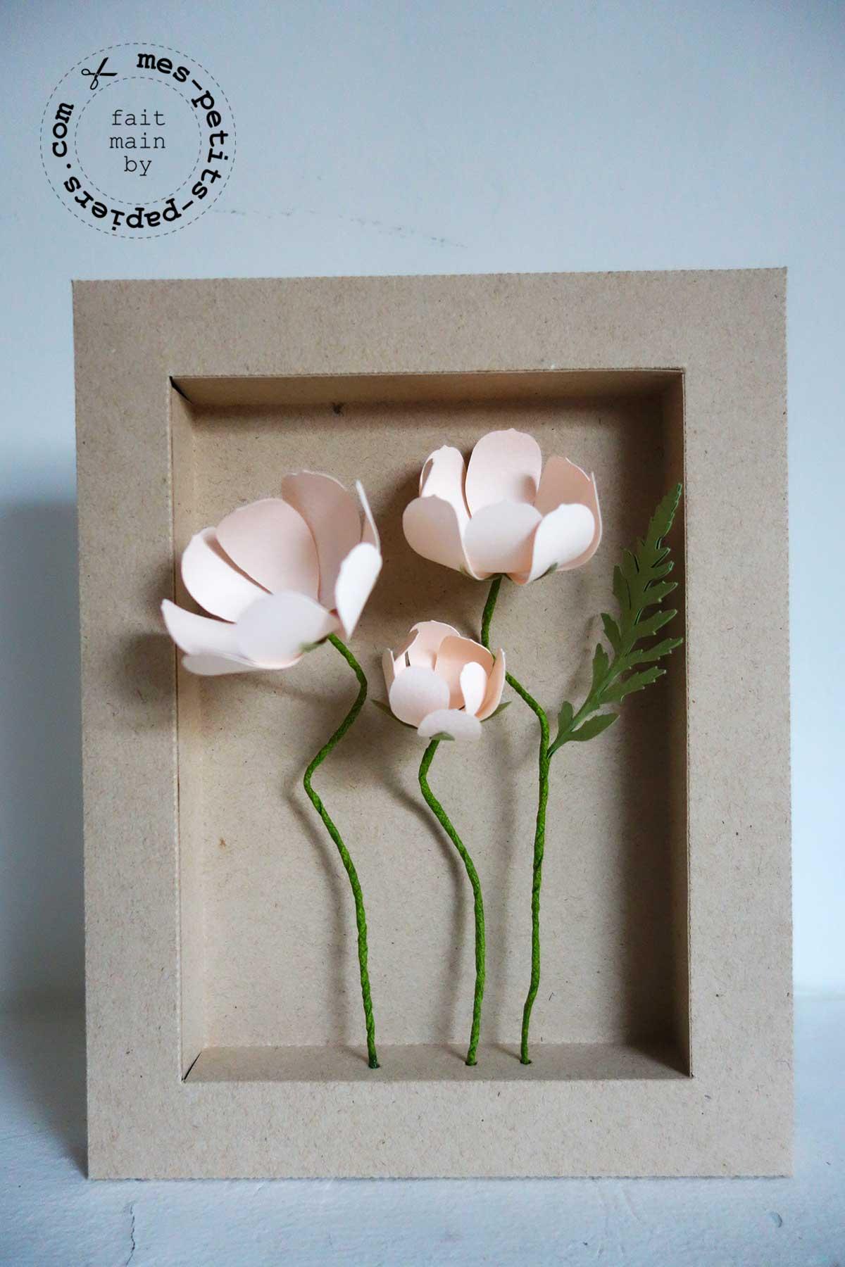 Cadre fleurs en papier