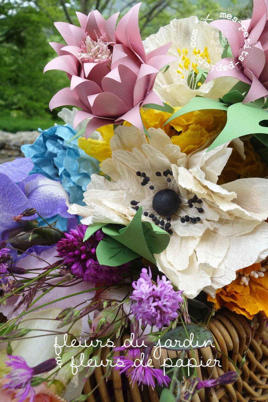 mes petits papiers - des fleurs pour un tableau